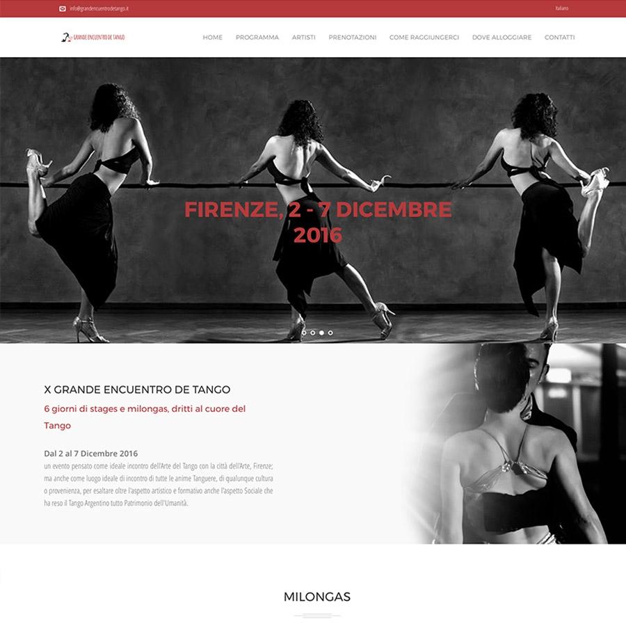 Sito web Grande Encuentro de Tango